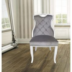 Camelot Nailhead Dining Captain Chair Dove Gray 1 Pack Endearing Captain Chairs For Dining Room Design Inspiration