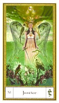 May 11 Tarot Card: Justice! (Gendron deck) Put your energies into balancing your life now -- in how you think, how you act, and how you treat yourself