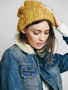 Free People Florence Cuff Beanie at Free People Clothing Boutique