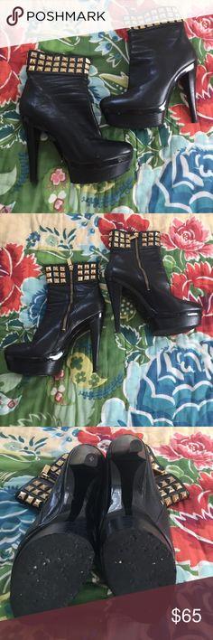 Michael Kors Studded Booties Awesome pre worn condition. KORS Michael Kors Shoes Ankle Boots & Booties