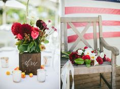 Rustic vineyard 4th of July wedding