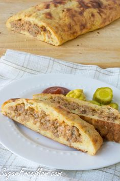 Low Carb Grain Free Bacon Cheeseburger Calzone!