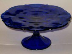 cobalt cake plate