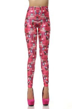 HOT SALE VINTAGE BEAUTIFUL SEXY LADY NEW FASHION VINTAGE FASHION RED CUTE KITTY ALARM CLOCK PATTERN 3D DIGITAL PRINTING SEXY GALAXY LEGGINGS PRINTED COSMIC SPACE PANTS TIE DYE TIGHTS GIRL FOR WOMEN