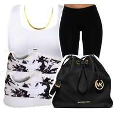 4/1/15 by xtaymaxlovesxmisfitx on Polyvore featuring Forever 21, NIKE and MICHAEL Michael Kors