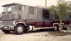 Mysterious RV… and Massive. This semi-mysterious RV is as big as it is unknown. Someone uploaded this photo to a to-do-projects list. There are just so many trucks out there where there isn't much known, but look at this RV. It's unlike almost anything you see out there. Vintage giant tractor-based motorhome — or motorcoach. Or maybe it's a caboverhome.