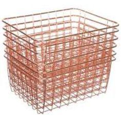 Wire Basket Decor, Basket Decoration, Wire Baskets, Storage Baskets, Storage Organization, Organizing, First Apartment Essentials, Cute Bedroom Ideas, Kitchen Storage Solutions