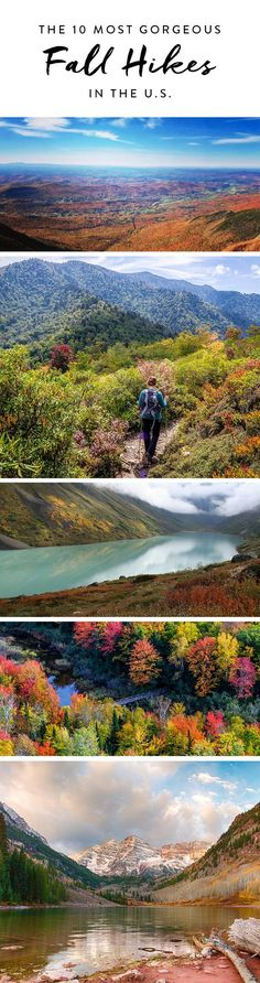 Best fall hikes in the U.S.! Here are the most gorgeous places to hike across the country. From sea to shining sea, fall foliage awaits you on these trails.