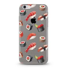 Sushi iPhone 7 Case, iPhone 6 case, iphone 6s case, iPhone 6s plus transparent clear case