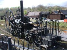 Trevethicks very first steam engine recreated at Ironbridge.
