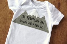 The Mountains are Calling Shirt Mountain by mylittlemookie on Etsy