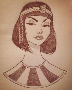 """Instagram의 Cameron Mark님: """"#cameronmark #art #design #illustration #drawing #egypt #dodle #sketch"""""""
