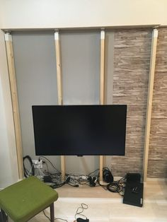 壁掛けテレビボードのDIYに初挑戦! Hidden Tv, Flat Screen, Interior, Home Decor, Theatre, Indoor, Theatres, Flatscreen, Interiors