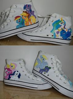 Don't like the fact that you have to wear 2 pairs of shoes to have all of the ponies! Other than that, I like the idea of having them (the ponies) on the side of the shoe!