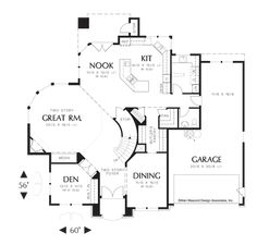 Image for Sedgwick-Curved Wall of Glass in Great Room-Main Floor Plan