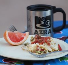 Migas-Arizona Raft Adventure's featured river recipe for May! Grand Canyon River, Rafting, Arizona, Yummy Food, Adventure, Tableware, Recipes, Flagstaff Arizona, Dinnerware
