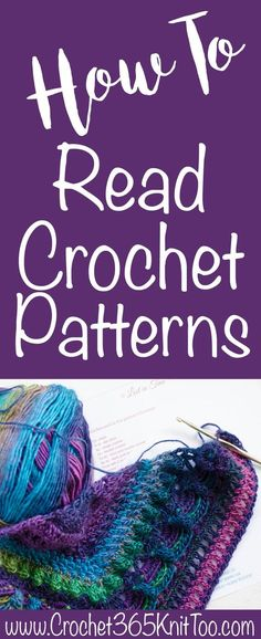 How to read a crochet pattern— look at the colors!