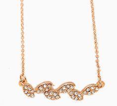 Fashion Czech Grain Leaf Shiny Alloy Czech Stones Necklace for Decoration