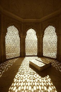 Moucharabieh screens. Love the shadows.