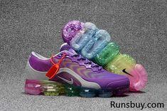 102517a282cdb2 Nike Air VaporMax 2018.5 KPU Purple Gray Rainbow Sole Women Air Max Sneakers
