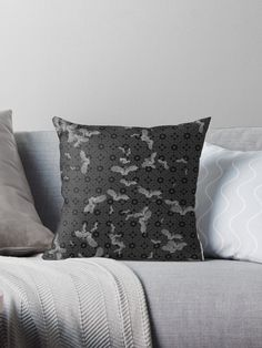 'Dark Aura' Throw Pillow by Dark-Aura Floor Pillows, Throw Pillows, Black Goth, Gothic Home Decor, Gothic House, Metalhead, Occult, Satan, Wicca