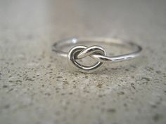 Love Knot Ring - Knot Ring -  Silver Ring - Sterling Silver Ring - Best Friend Ring - Bridesmaids Gift