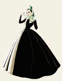 Walter Plunkett design sketches for Vivien Leigh as Scarlett O'Hara in Gone With the Wind