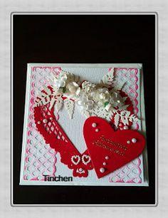 Tinchens - Bastelblog: Hochzeitskarte