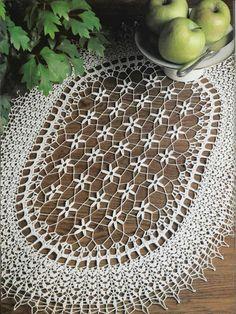 Crochet Knitting Handicraft: Table cloths