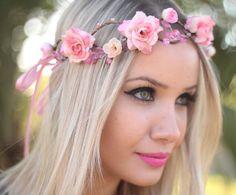 Coroinha de Flores Barbie - G.Offer