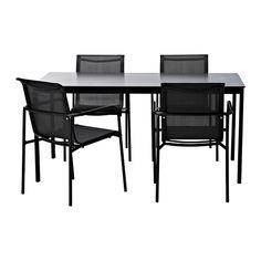GARPEN Tafel en 4 armleunstoelen - IKEA