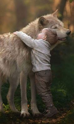 The Boy and the Wolf.... Relax with this nature photo. #Relax more with this #free #music with #BinauralBeats that can #heal you. #landscaping #LandscapingIdeas #landscapeDesign