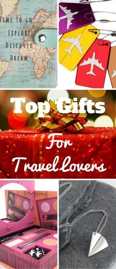 Top Gifts For Travel Lovers. Looking for presents for travel lovers? From make up and accessories to gadgets, here's a great gift list to get you started. #Christmas #Travel #Presents #travelgift
