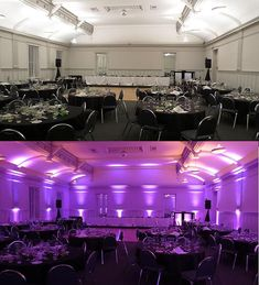 Wireless Uplighting (before/after) by The Wedding DJ Company
