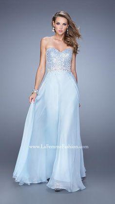 39159d1805fd La Femme 20985 | La Femme Dark Blue Prom Dresses, Cute Prom Dresses,  Strapless
