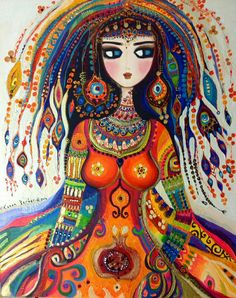 Colurful Artworks by Turkish Painter Canan Berber Turkish Art, Guache, Naive Art, Types Of Art, Ancient Art, Collage Art, Collages, Female Art, Painting & Drawing