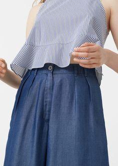 Soft denim trousers | MANGO