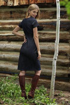 Clara Sheath Dress Blue