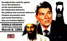 osama bin laden from freedom fighter Now it's time to note that a similar set of documents shows that reagan also played a major role in bringing on the terrorist war that followed—specifically, in abetting the rise of osama bin laden.