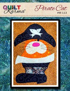 Quilt Pattern - Pirate Cat Applique - Quilt Karma