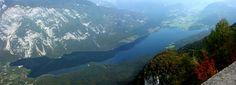 View on the Bohinj Lake from the air. Amazing right? #bohinj #Slovenia #SloveniaHolidays #sloveniatourism #sloveniatravel #nature #flower  #LakeBohinj #SloveniaLakeBohinj #SloveniaLake