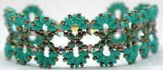 Deb Roberti's Infinity bracelet done with new Turquoise MiniDuos.