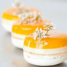 Mango Coconut Macarons // Fuel your passion with more recipes at www.pregelrecipes.com