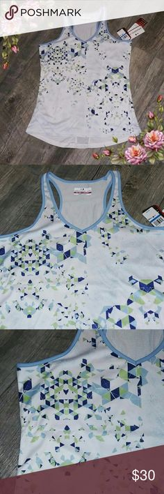 MAKE AN OFFER ;) V neck work out tank. Gorgeous print. Bright colors. Very pretty GrandSlam Tops