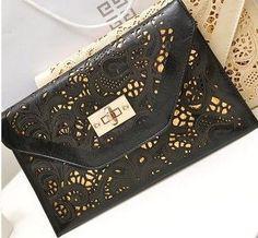4a76538848e47 LADY STYLE hot New 2016 arrival cutout envelope women clutch vintage  messenger bags chain colorful shoulder bags Women handbags