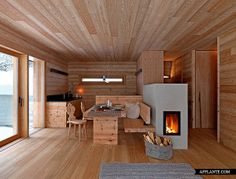 scandinavian wood stoves modern minimalist scandinavian kitchen with wood burning stove Small Wood Burning Stove, Minimalist Scandinavian, Scandinavian Kitchen, Modern Minimalist, Wood Architecture, Cabin Kitchens, Micro House, Boutique Homes, Arquitetura