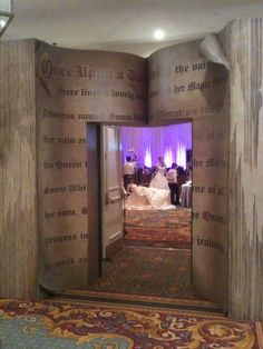 Entrance to the reception ~ Step into a storybook reception! <3 MouseTalesTravel.com...I'm either having this or the Beauty and the Beast rose covered gates...or both!