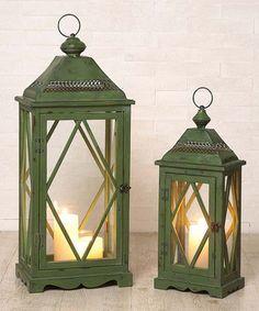 Loving this Green Lantern Candleholder Set on #zulily! #zulilyfinds