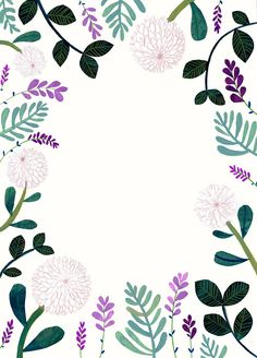 Back to doing some flowery borders for a wedding invite I did recently