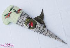 Schultüten - Schultüte Dinosaurier mit Namen - ein Designerstück von Steckkoenig-Design bei DaWanda